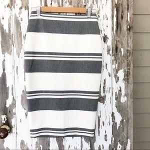 Rare Elizabeth & James Striped Pencil Skirt